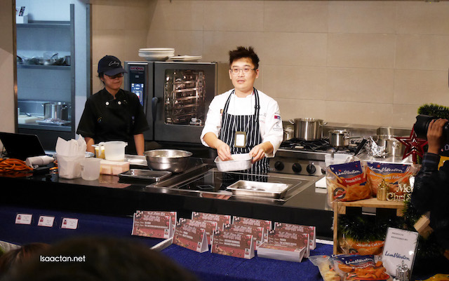 Chef Kenneth Lam in action during the demonstration