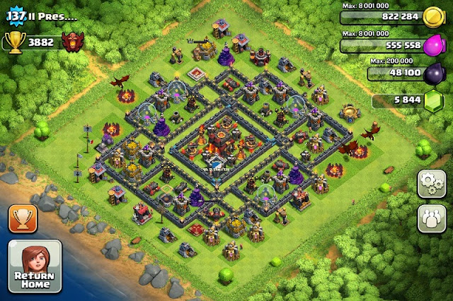 Clash of Clans Layouts Defesas Todos os Levels!