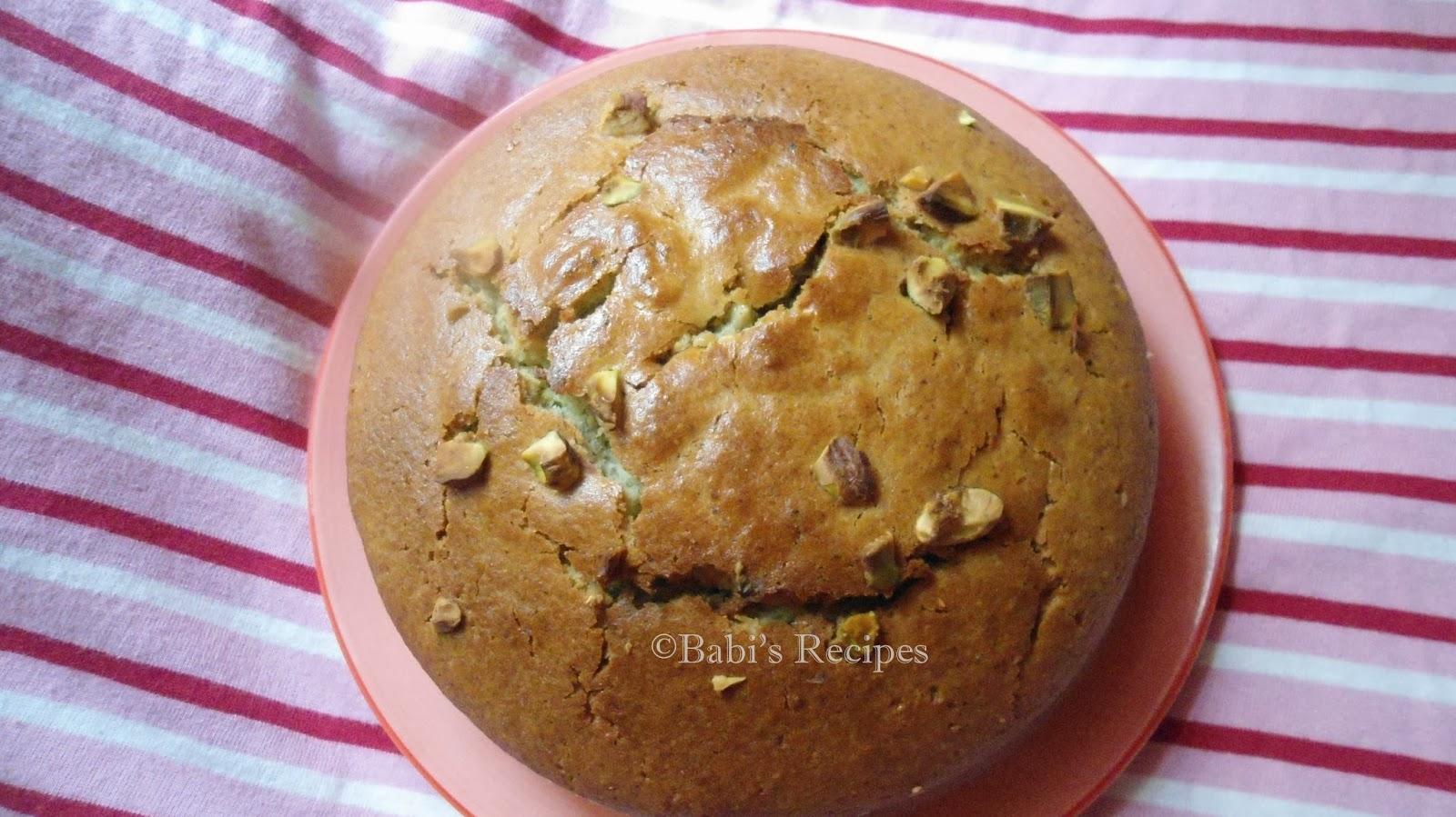 pistachio cardamon cake
