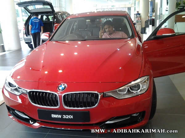 CDM Adibah Karimah at BMW to buy new F30 as for premium beautiful business car
