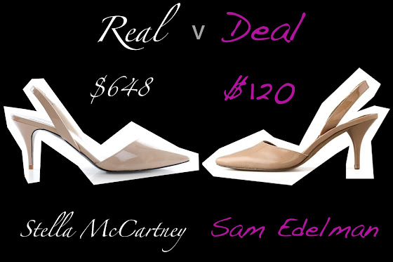 Real: Stella McCartney verses Deal: Sam Edelman