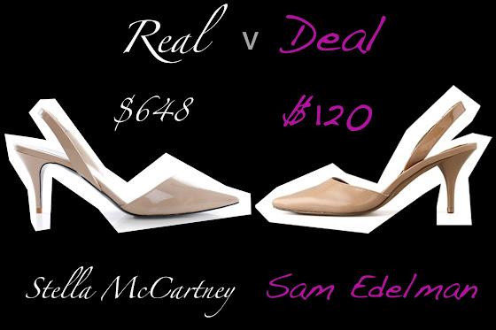 Real: Stella McCartney verses Deal: Sam Edelman