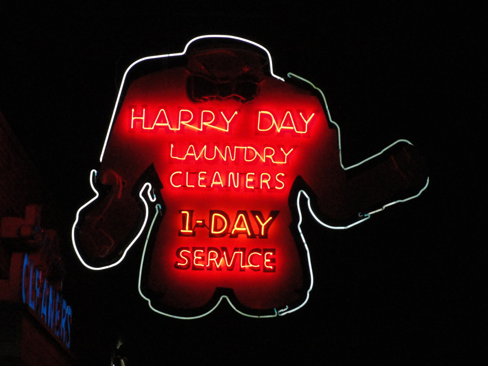 happy day laundry cleaners has grown into a chain of three stores but its original location with the classic neon sign is on union in the heart of