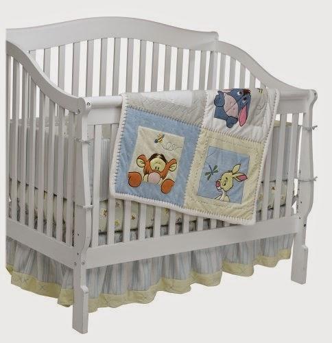 Soft & Fuzzy Winnie the Pooh 4 Piece Baby Crib Bedding Set ...