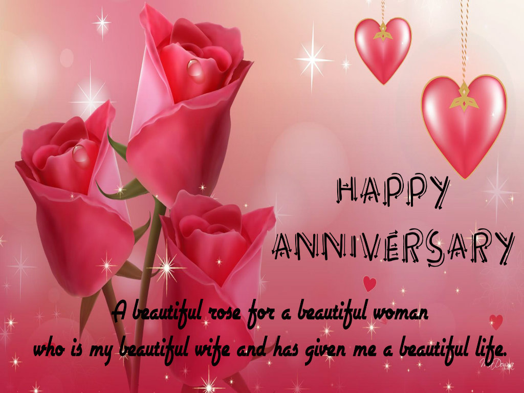 Wishes happy anniversary saying hd wallpaper with roses ~ inspiring