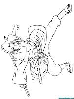 Halaman Mewarnai Gambar Sasuke