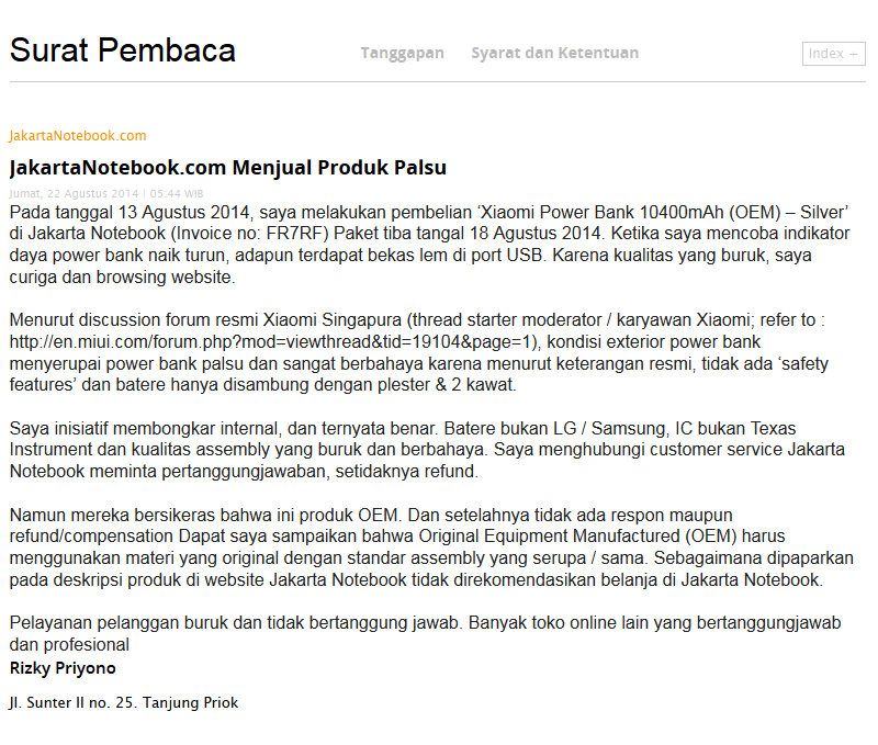 Pengalaman Belanja Online Di JakartaNotebook.com