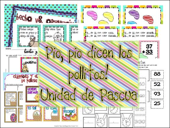http://www.teacherspayteachers.com/Product/Unidad-de-Pascua-factopinsecuencia-Alfabetico-verbos-pasapres-MATEMA-628444