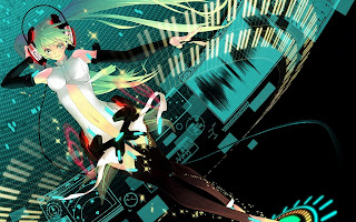 Miku Hatsune Music Headset Twin Tail Vocaloid Anime Girl HD Wallpaper Desktop PC Background 1930