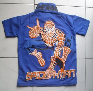Kaos Krah Spiderman belakang