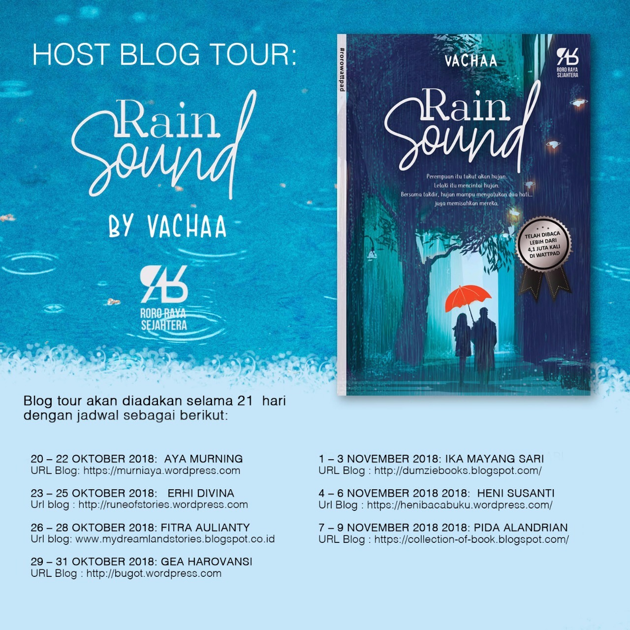 Blog Tour Rain Sound