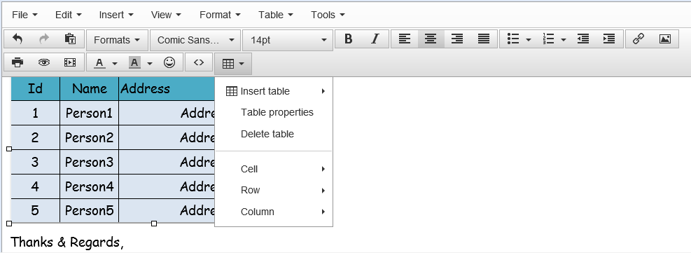 paste excel data into tinymce with formatting