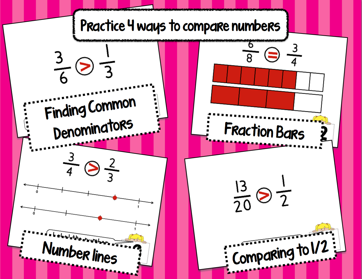 https://www.teacherspayteachers.com/Product/Comparing-Fractions-Task-Cards-4-ways-to-compare-NFA1-NFA2-1713755