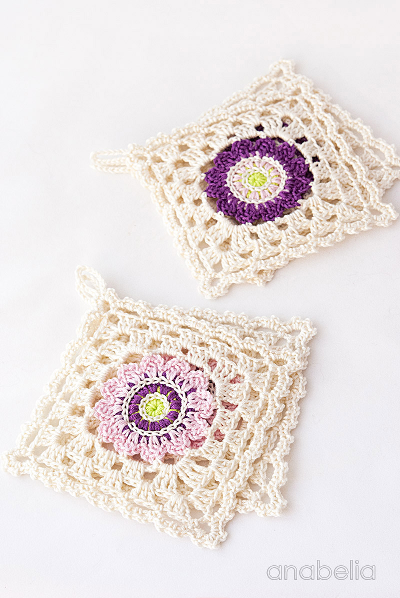 Japanese inspiration crochet square coasters | Anabelia Craft Design ...