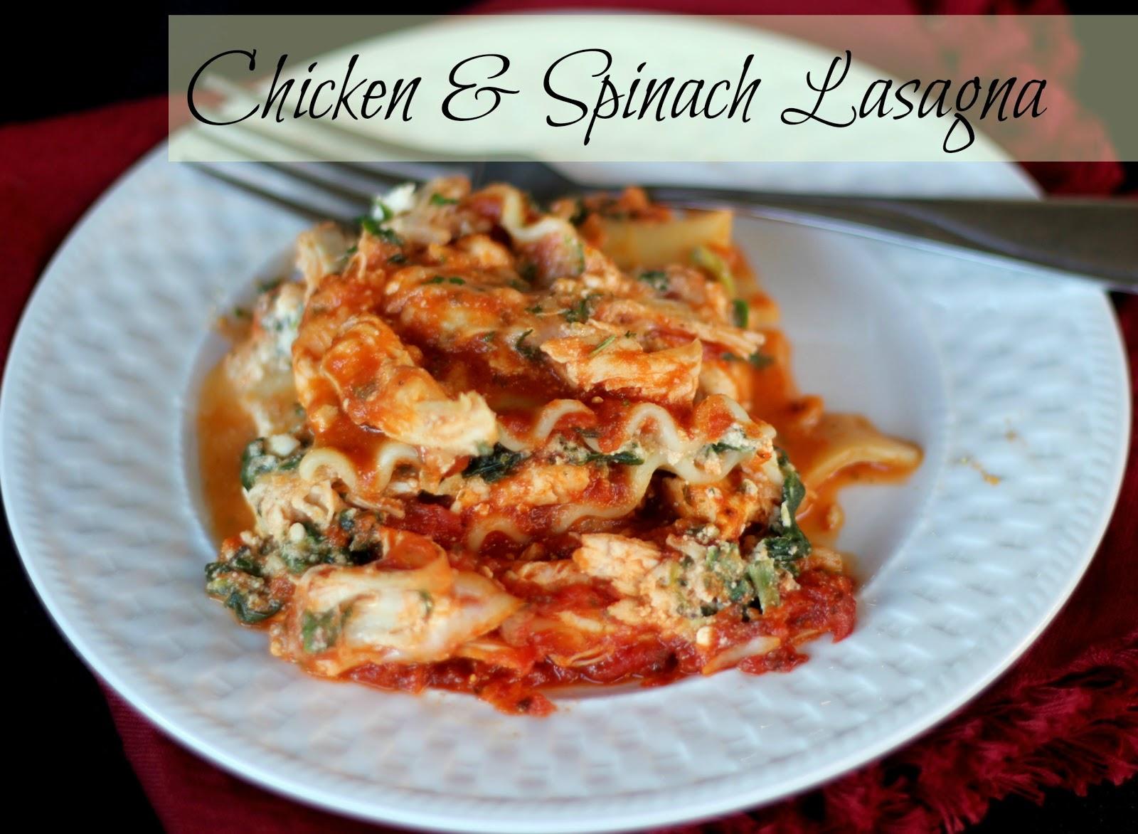The unsophisticated kitchen chicken spinach lasagna for Spinach chicken lasagna recipe
