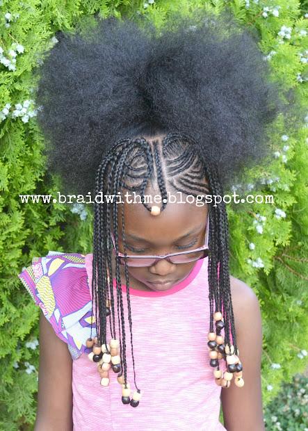 braid with beautiful nubian
