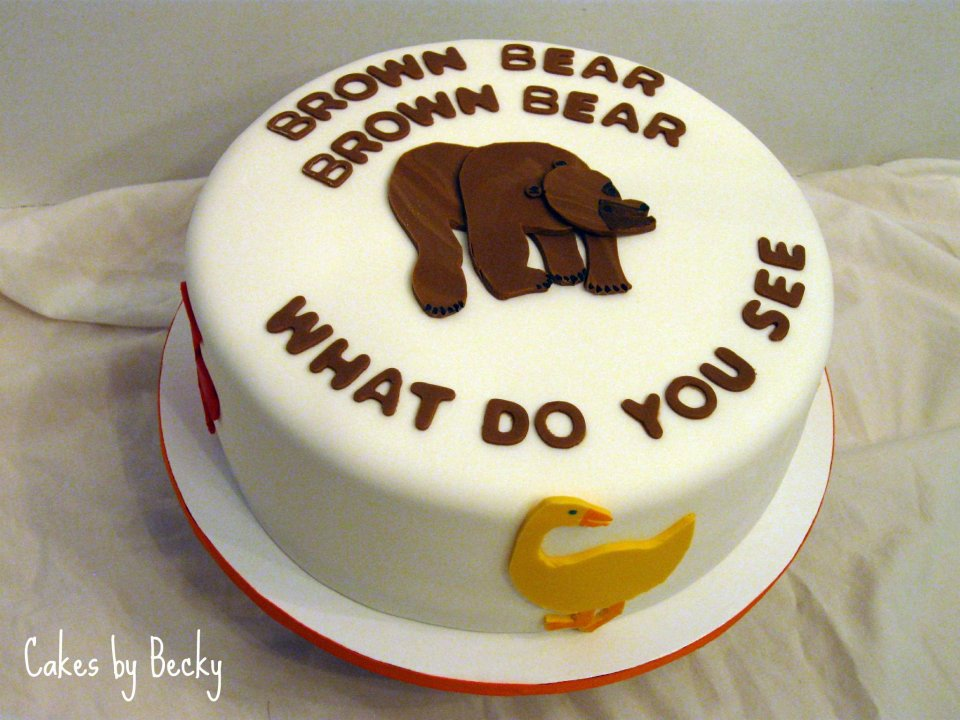 Cakes By Becky Brown Bear Brown Bear Birthday Cake