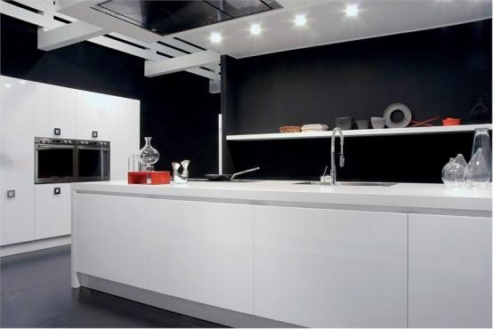 Ideas de dise o de cocinas en blanco y negro decorar - Cocinas en blanco y negro ...