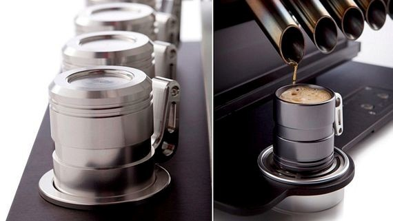 Espresso Veloce V12 Engine  The Espresso Veloce comes in both V10 and V12 configurations and just like an actual automotive engine, this espresso maker is fashioned from materials like aluminium, magnesium and titanium.