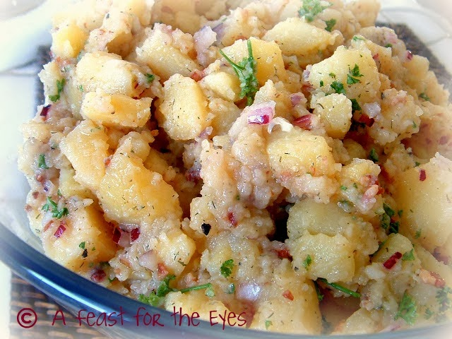 A feast for the eyes authentic german potato salad bavarian authentic german potato salad bavarian kartoffel salat from my mutti ccuart Choice Image