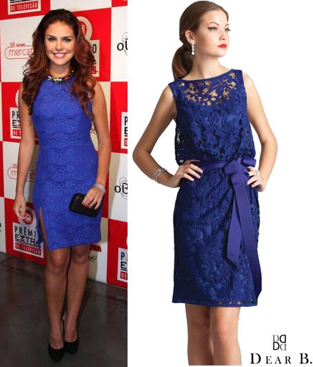Acessorios para vestido renda azul