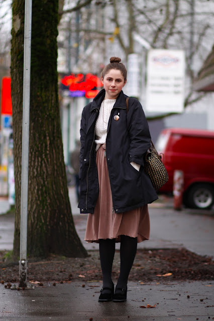 Emma Nauman Midi skirt seattle street style fashion it's my darlin' velvet Mary Janes