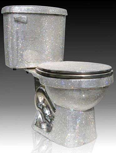 Stylish  crystal toilet for more stylishly houses