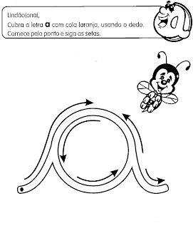 Traçado de Vogais Cursivas