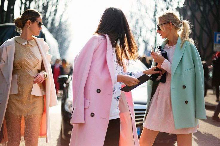 nude coat, lace, light pink coat, mint green coat, pastels, outfits, inspiration, fashion blogger, street style