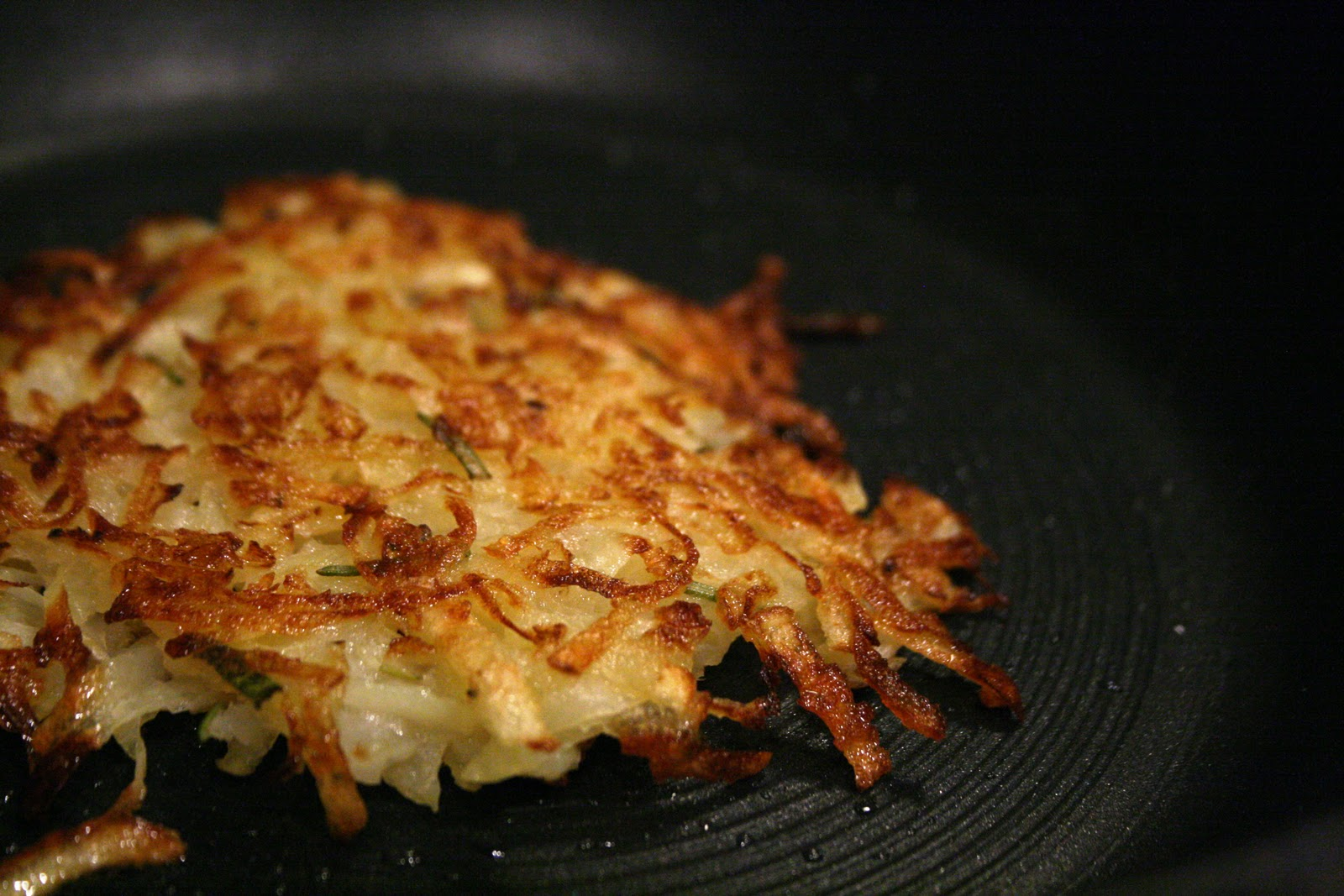 bacon and scallions crispy potato onion and mushroom rosti rosti