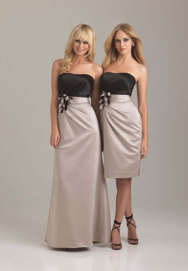 Whiteazalea bridesmaid dresses april 2013 satin strapless a line shortlong bridesmaid dress ombrellifo Images
