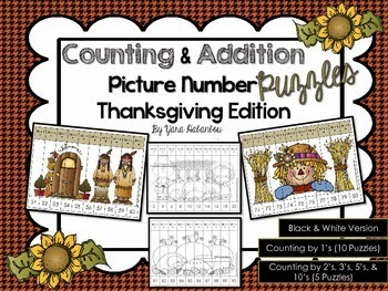 http://www.teacherspayteachers.com/Product/Counting-Addition-Picture-Number-Puzzles-Thanksgiving-Edition-1550718