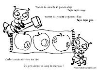 comptine illustrée pomme de reinnette