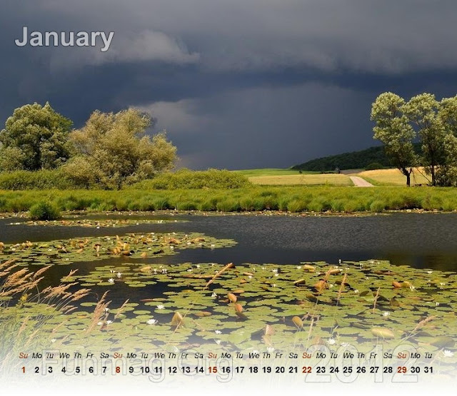 nature calendar 2012