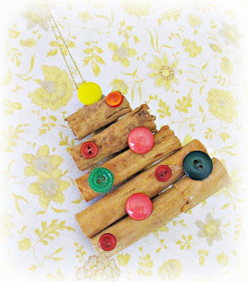 image christmas tree ornament tutorial cinnamon buttons diy