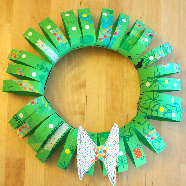 how to make a 3d paper tube christmas wreath