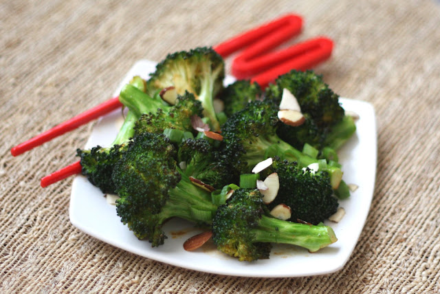 Sriracha Honey Roasted Broccoli recipe by Barefeet In The Kitchen