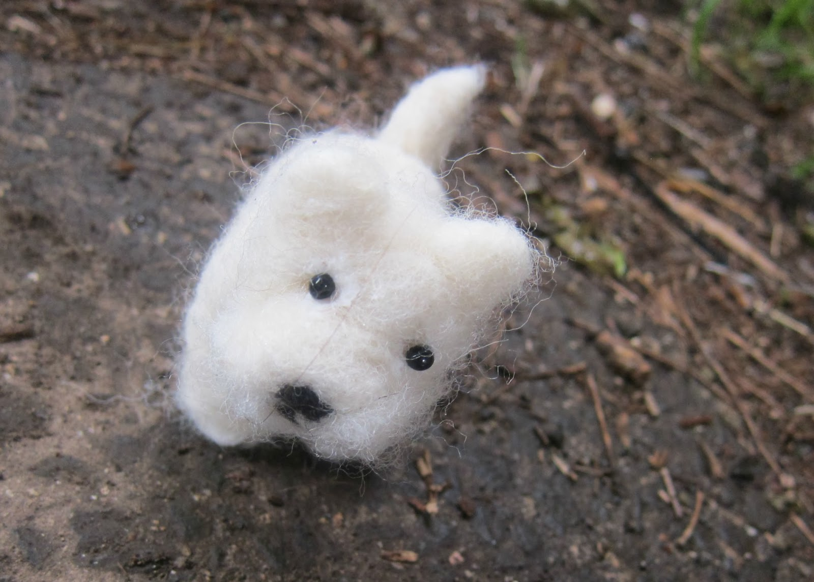 .: needle felted west highland terrier puppy