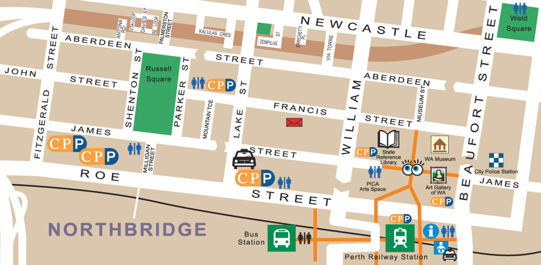Map Of Northbridge The Shed S Guide To Perth