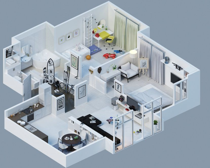 superior top house plans #10: small 1 bedroom house plans