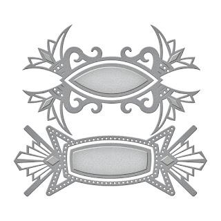 SBS4-605 Spellbinders Shapeabilities Art Deco Tags