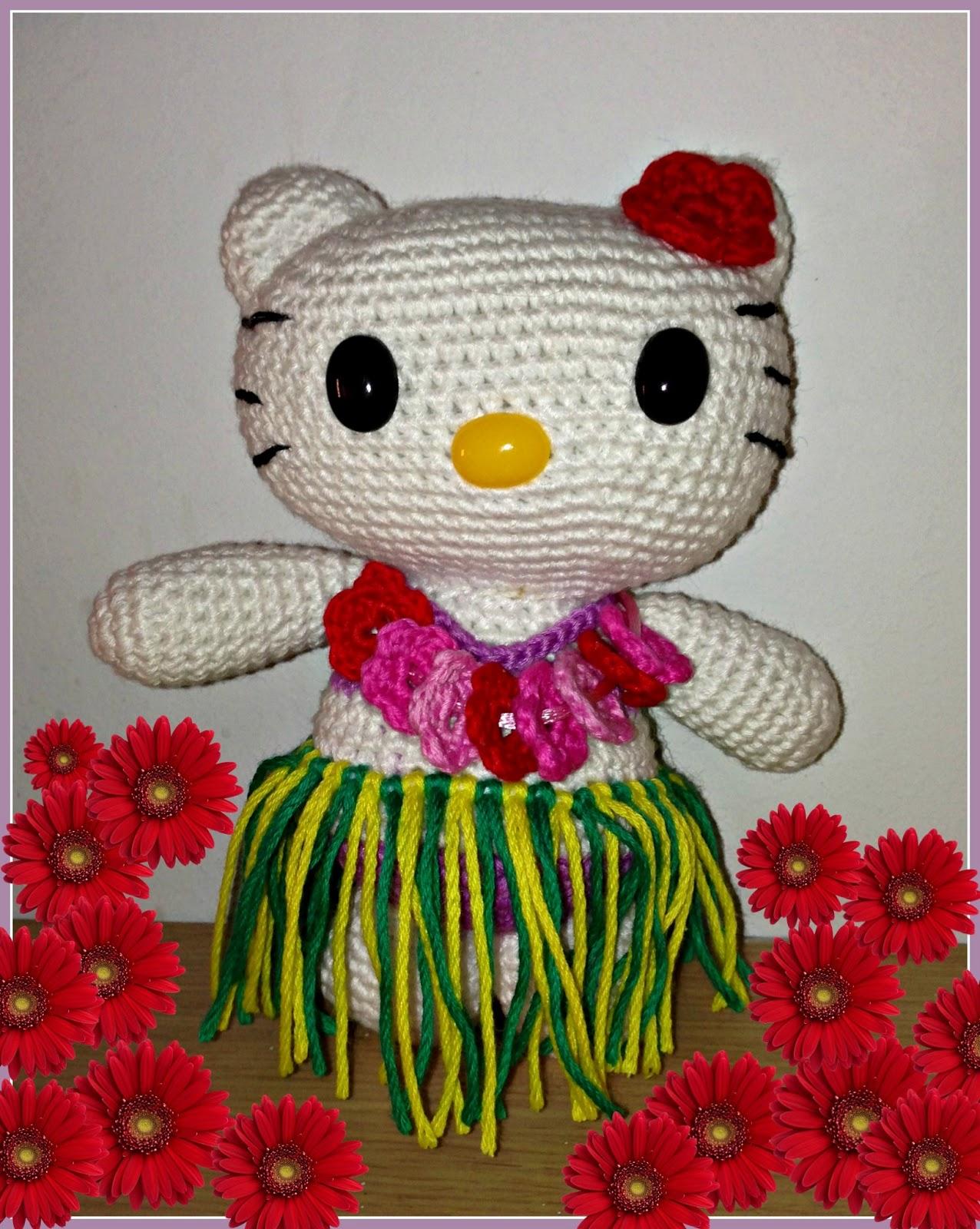 Amigurumi Kitty Patron : MADRES HIPERACTIVAS: Hello Kitty Hawaiana Amigurumi ...