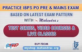 PRACTICE IBPS PO PRE & MAINS EXAM