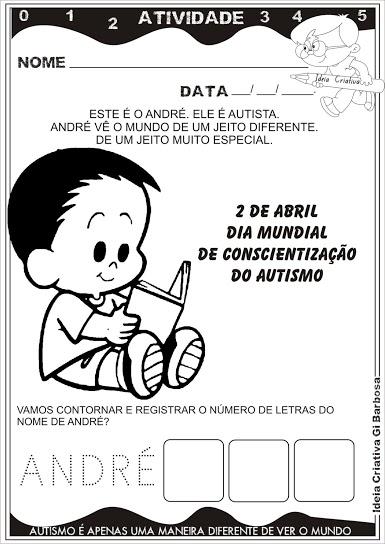 Atividade Dia Mundial de Conscientização do Autismo