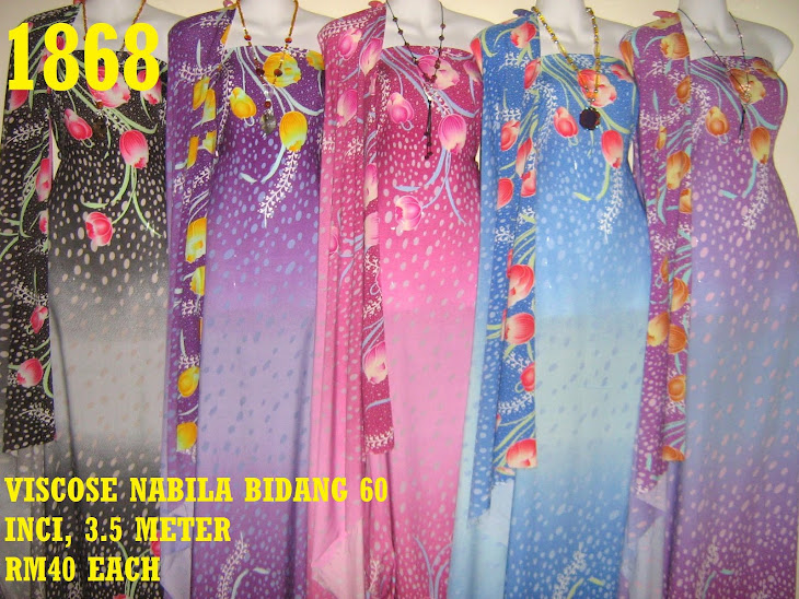 VN 1868: VISCOSE NABILA BIDANG 60 INCI, 3.5 METER