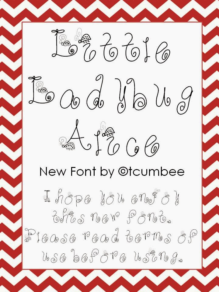 http://www.teacherspayteachers.com/Product/Little-Ladybug-Alice-FONT-1047909