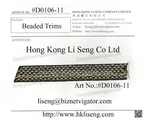 Beaded Trims Supplier And Manufacturer - Hong Kong Li Seng Co Ltd