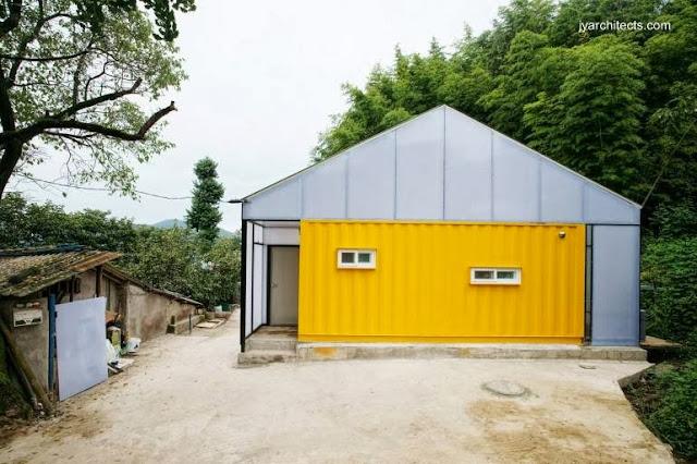 Casa económica en base a contenedores reciclados