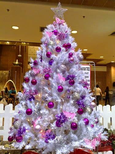 arboles de navidad con esferas parte