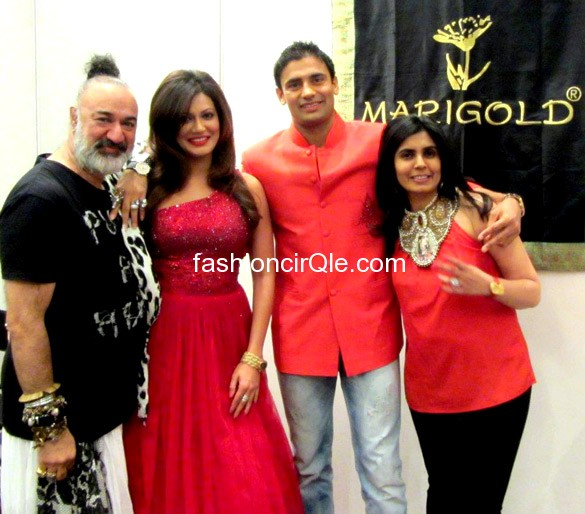 Payal rohtagi and sangram singh at marigold -  Payal rohtagi in red gown